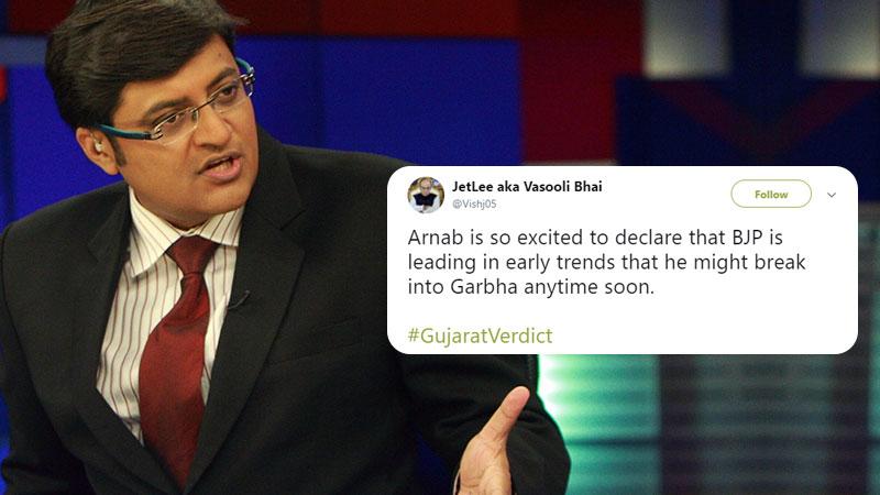 Arnab Gujarat Election jokes