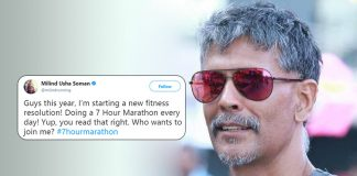 Milind Soman new fitness resolution