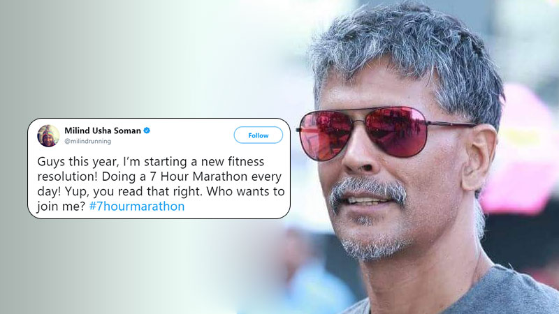 Milind Soman new fitness resolution