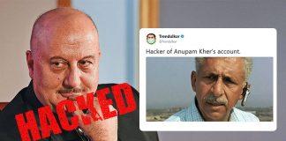 Anupam Kher's Twitter account