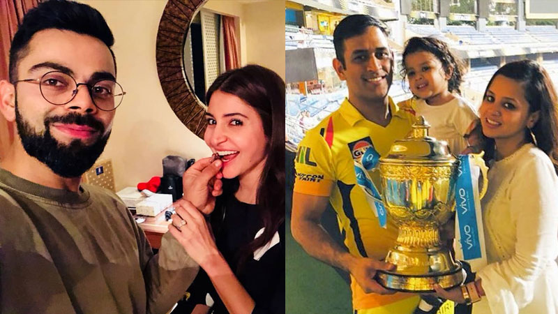 Indian cricketers on Instagram