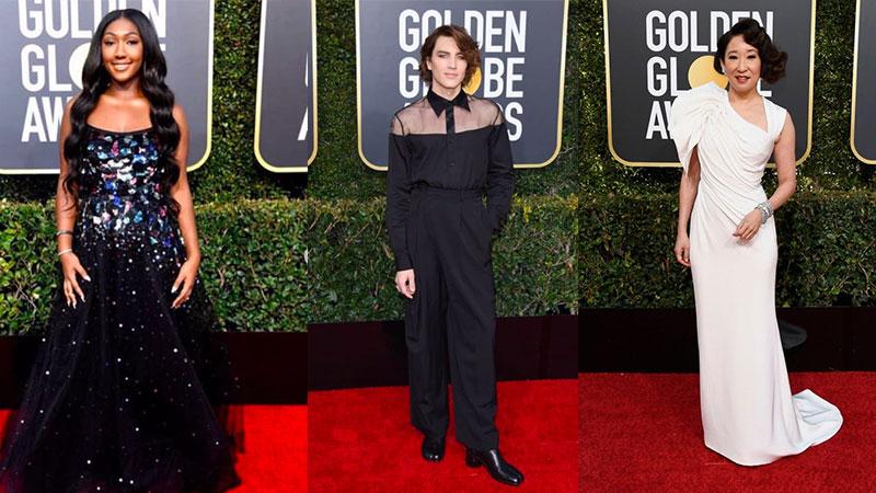 celebrity Golden Globes looks