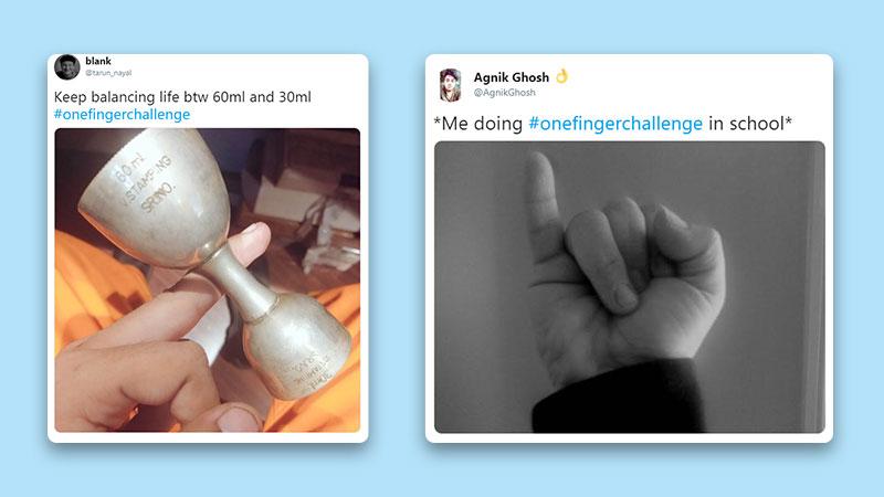 #OneFingerChallenge