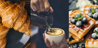 Cappuccino and breakfast combos
