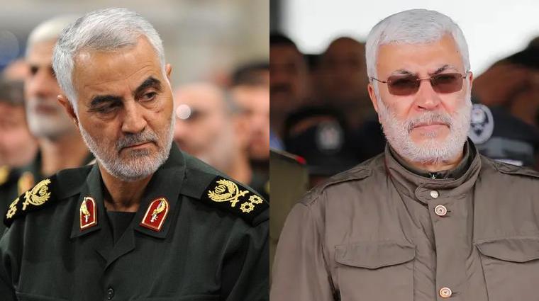 Resultado de imagem para Qassem Soleimani e Abu Mahdi Al-Muhandis
