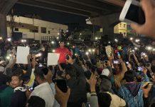 Hyderabad flash protest