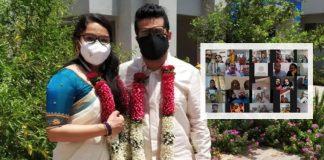 Zoom virtual wedding