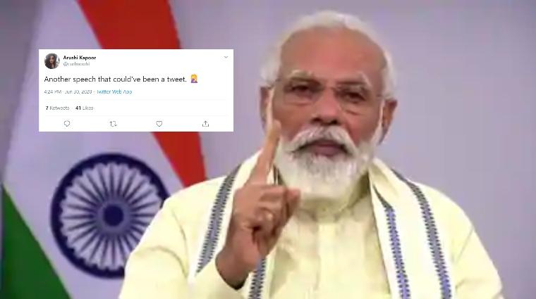 Modi's national address memes