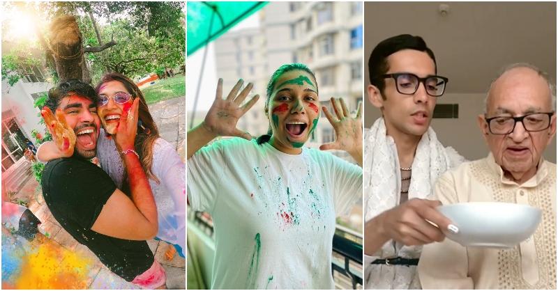 Influencer Holi celebrations