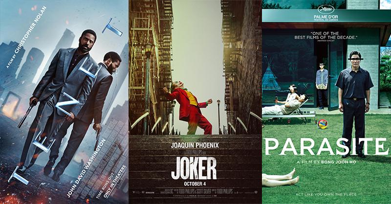 Oscar nominated. movies to watch. movies. Tenet. Parasite. Joker