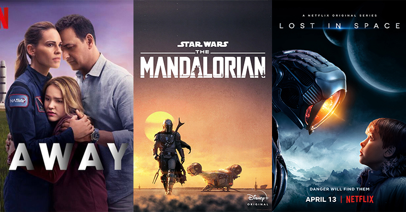 tv shows. space. lost in space. away. the mandalorian. must watch.