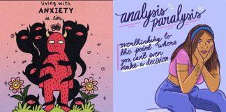 anxiety, instagram art, artists, mental heath art, artists on instagram
