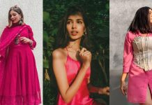 pink Navratri outfits